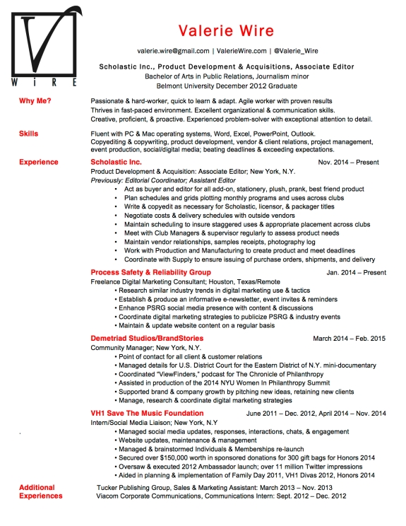 VWire Website Resume