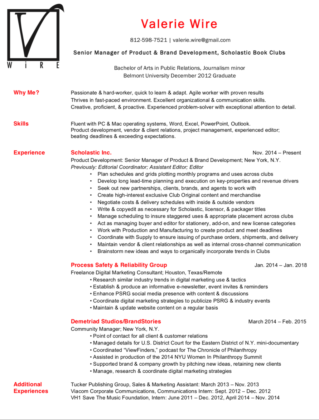 VWire Resume